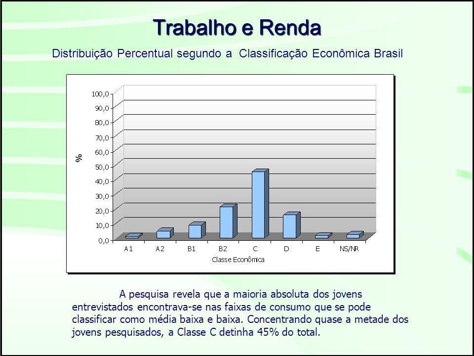 Distribuição Percentual segundo a Classificação Econômica Brasil