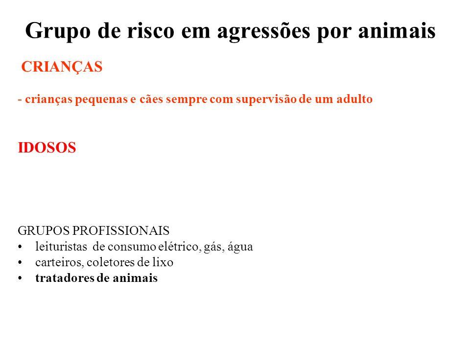 Grupo de risco em agressões por animais