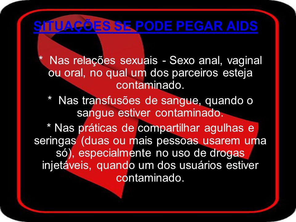 SITUAÇÕES SE PODE PEGAR AIDS