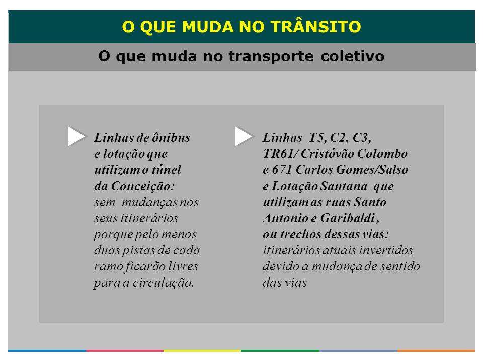 O que muda no transporte coletivo