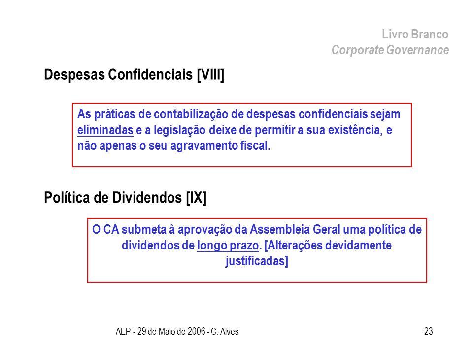 Livro Branco Corporate Governance