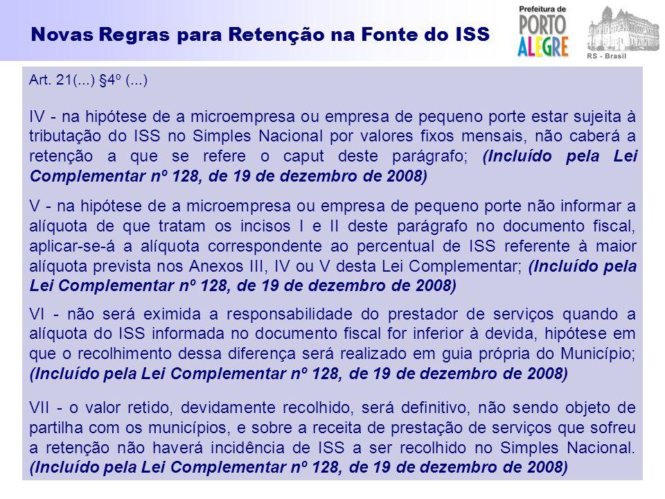 Novas Regras para Retenção na Fonte do ISS