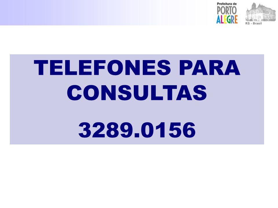 TELEFONES PARA CONSULTAS