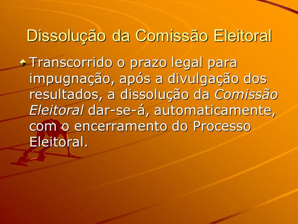 Dissolução da Comissão Eleitoral