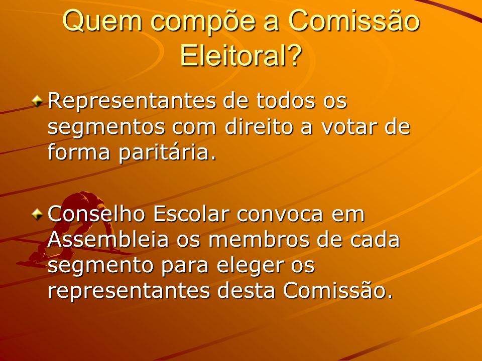 Quem compõe a Comissão Eleitoral