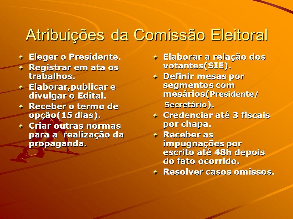 Atribuições da Comissão Eleitoral
