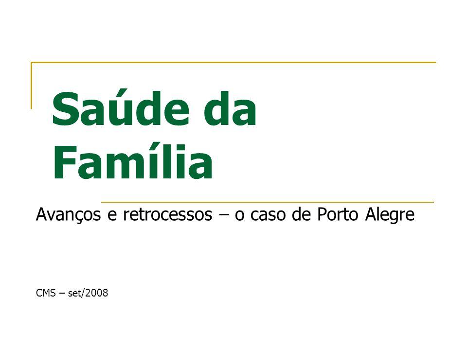 Avanços e retrocessos – o caso de Porto Alegre CMS – set/2008