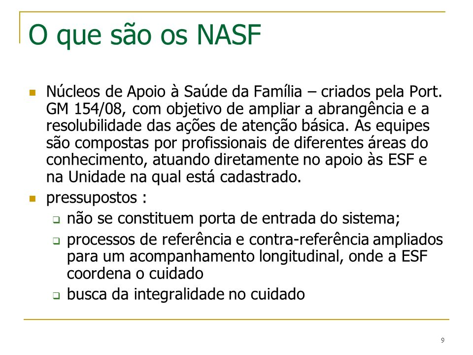 O que são os NASF