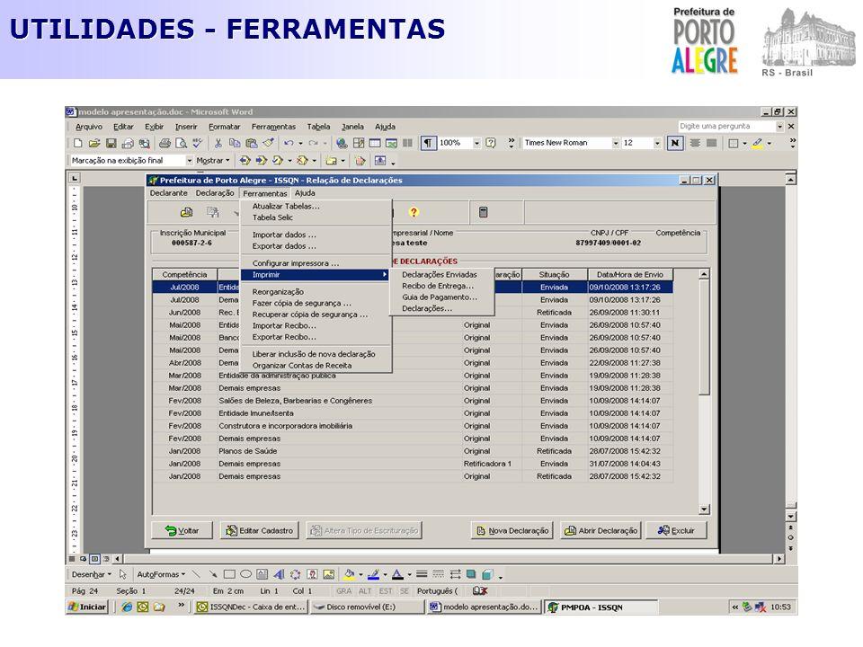 UTILIDADES - FERRAMENTAS