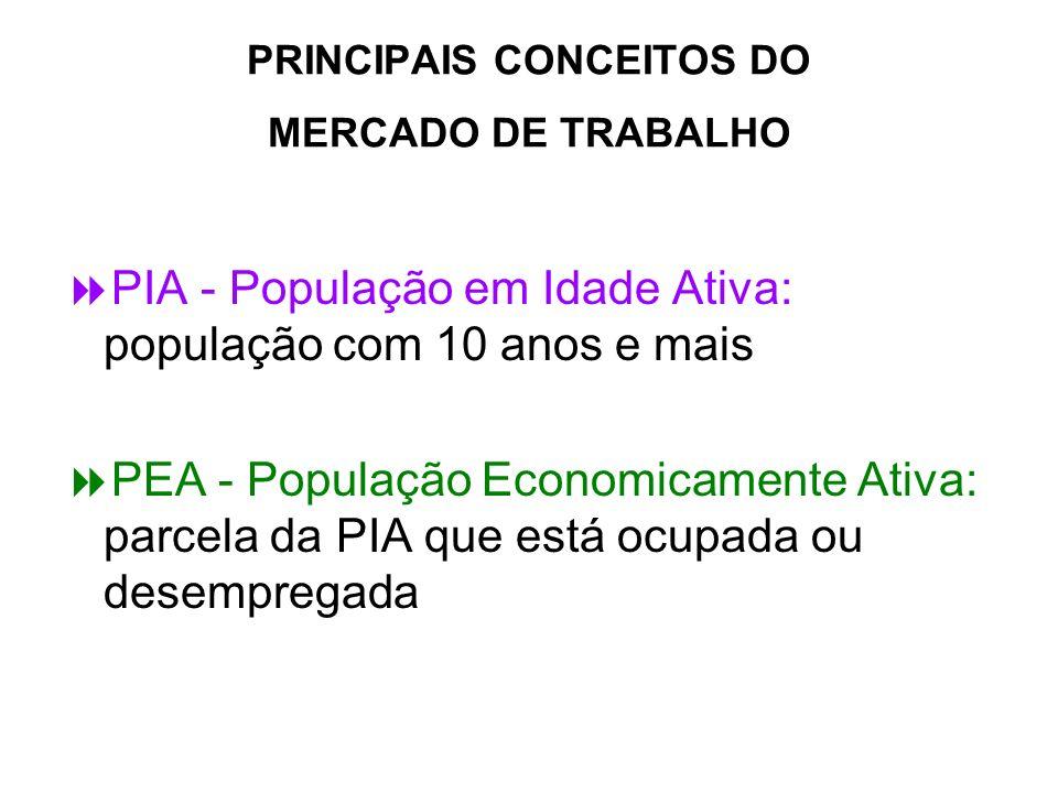 PRINCIPAIS CONCEITOS DO MERCADO DE TRABALHO