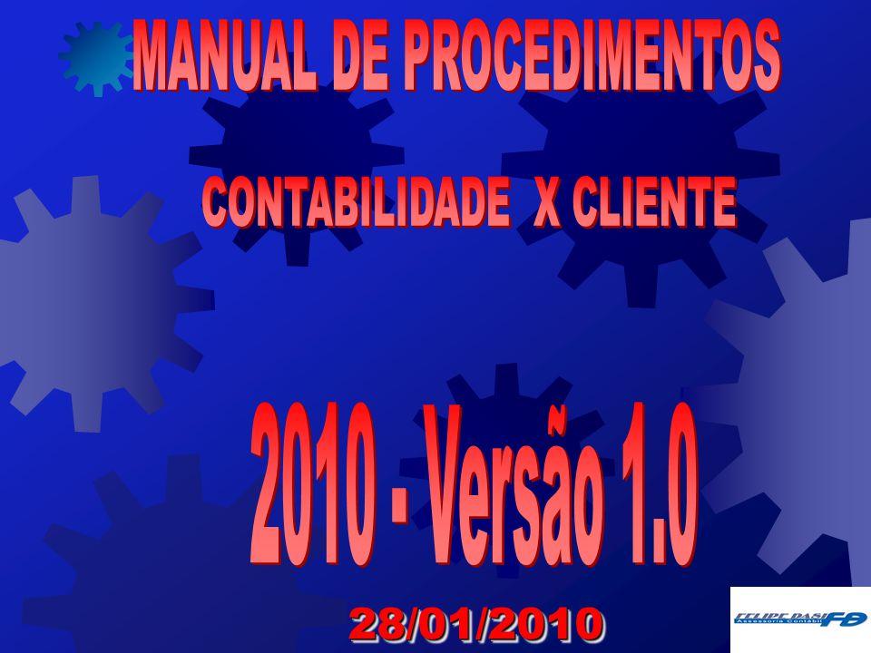 MANUAL DE PROCEDIMENTOS CONTABILIDADE X CLIENTE
