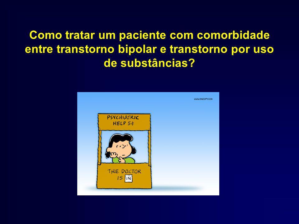 Como tratar um paciente com comorbidade entre transtorno bipolar e transtorno por uso de substâncias