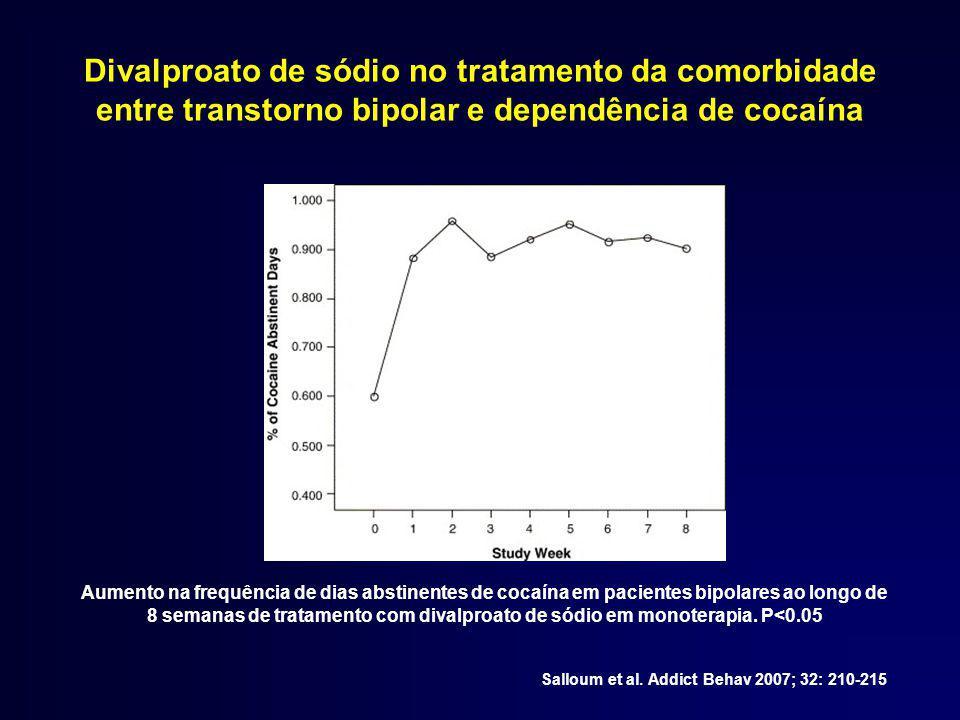 Divalproato de sódio no tratamento da comorbidade entre transtorno bipolar e dependência de cocaína