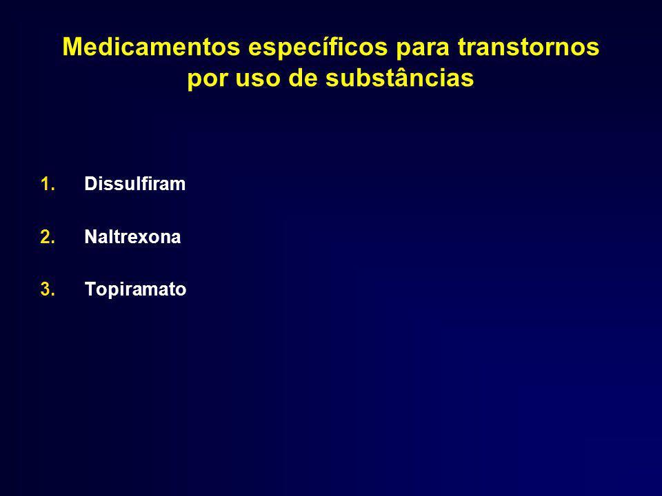 Medicamentos específicos para transtornos por uso de substâncias