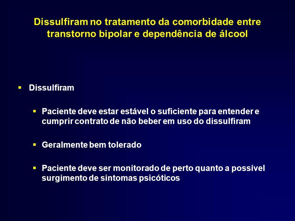 Dissulfiram no tratamento da comorbidade entre transtorno bipolar e dependência de álcool