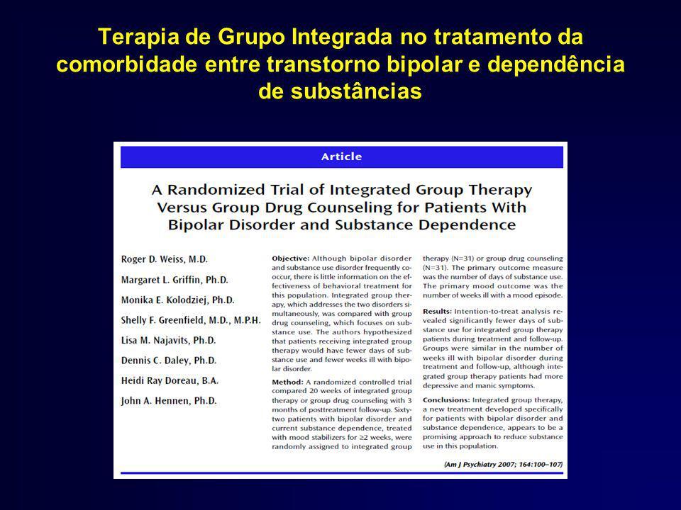 Terapia de Grupo Integrada no tratamento da comorbidade entre transtorno bipolar e dependência de substâncias