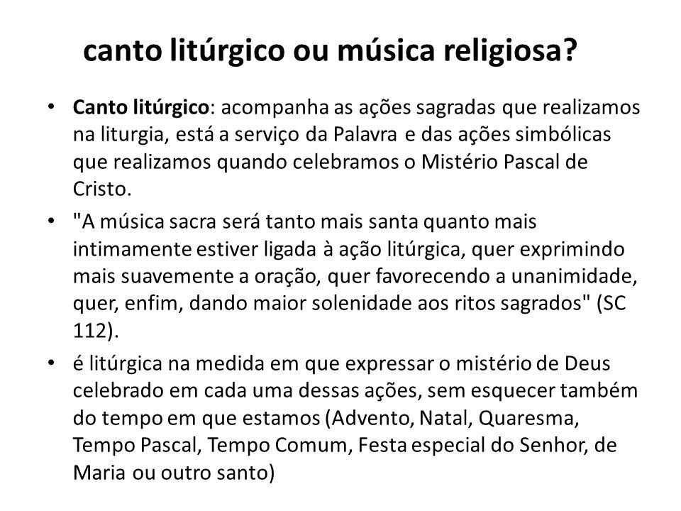 canto litúrgico ou música religiosa