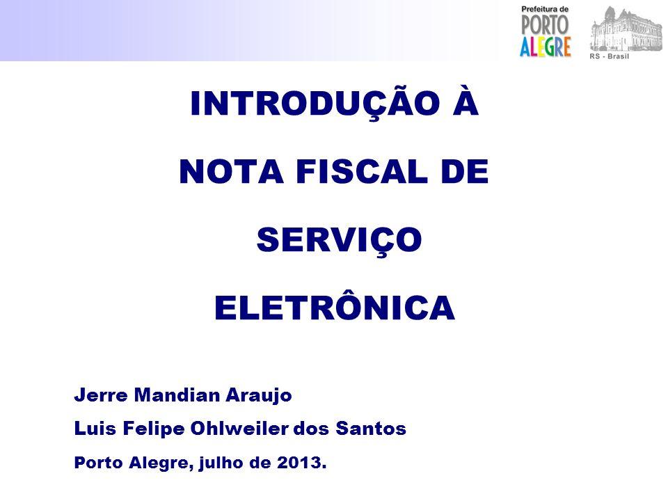 INTRODUÇÃO À NOTA FISCAL DE SERVIÇO ELETRÔNICA