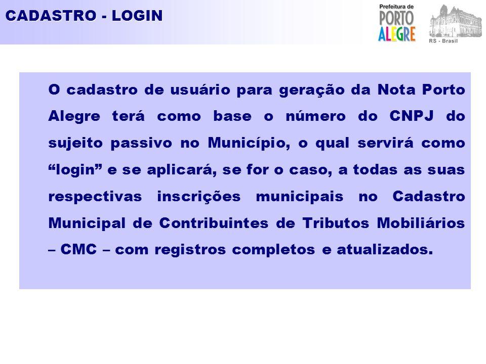 CADASTRO - LOGIN