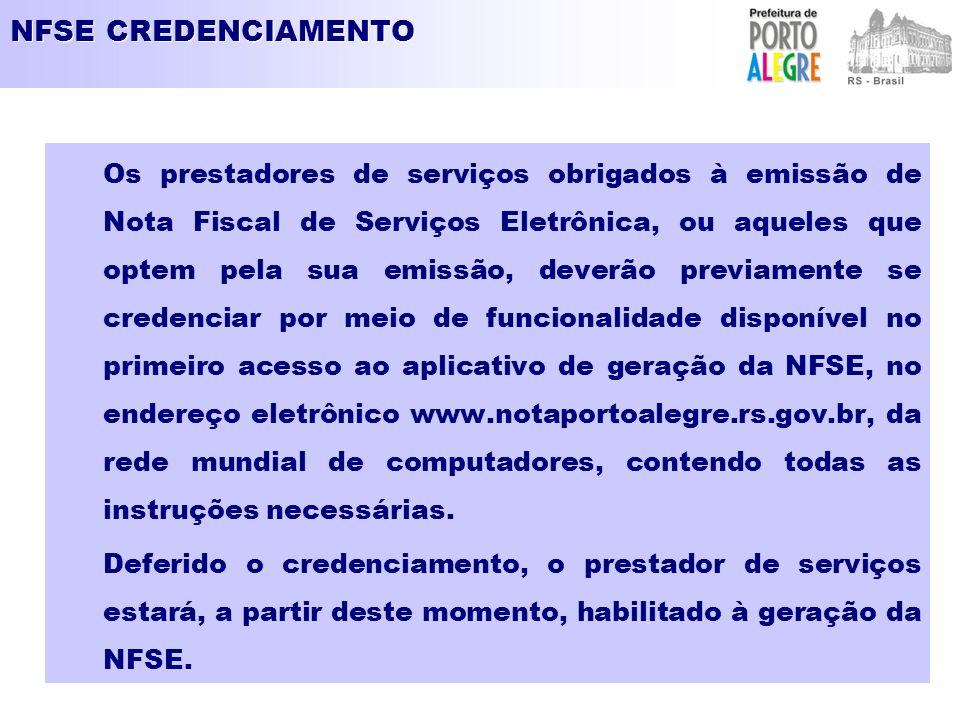 NFSE CREDENCIAMENTO