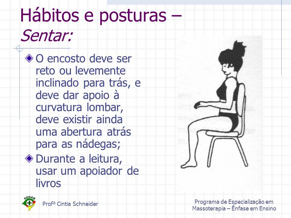 Hábitos e posturas – Sentar: