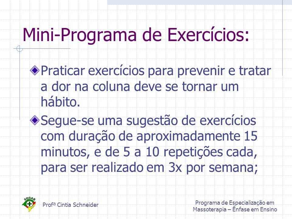 Mini-Programa de Exercícios: