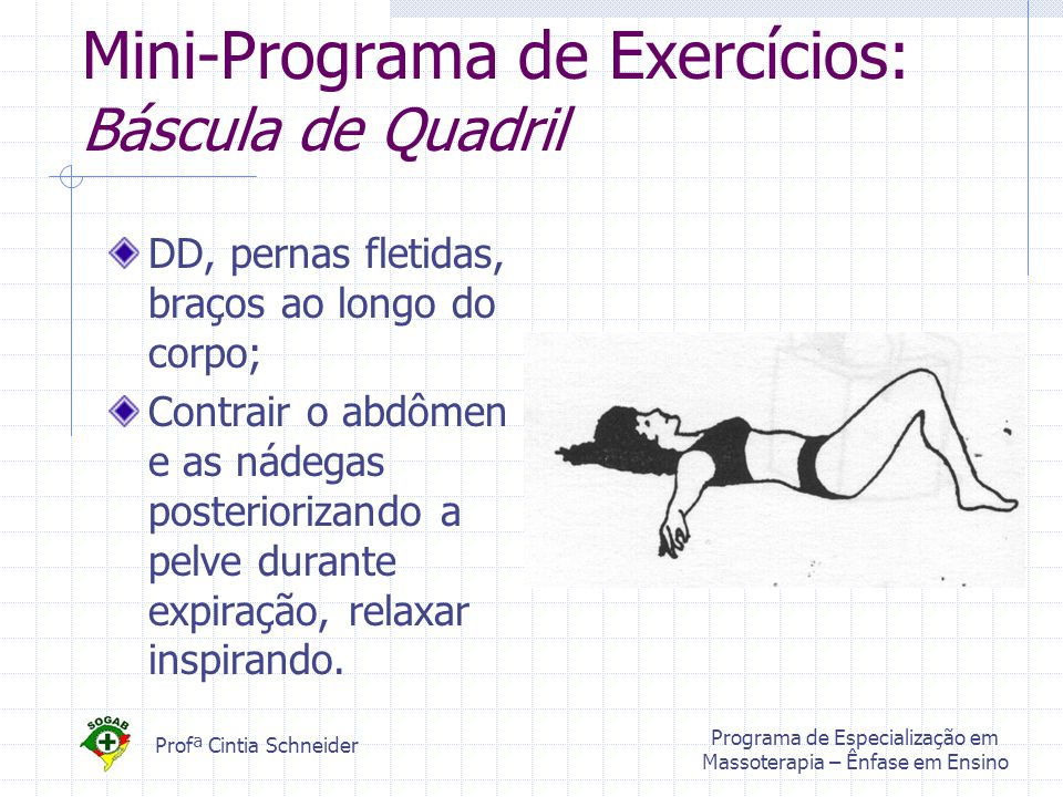 Mini-Programa de Exercícios: Báscula de Quadril