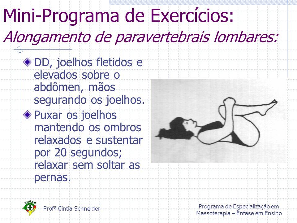 Mini-Programa de Exercícios: Alongamento de paravertebrais lombares: