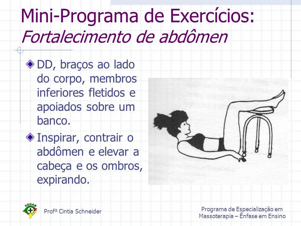 Mini-Programa de Exercícios: Fortalecimento de abdômen