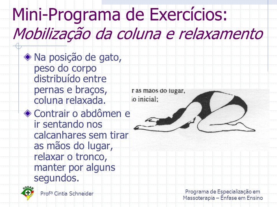 Mini-Programa de Exercícios: Mobilização da coluna e relaxamento