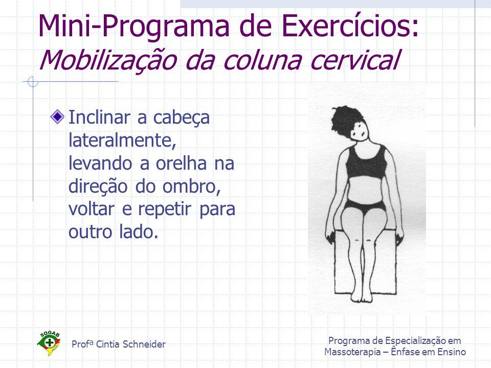 Mini-Programa de Exercícios: Mobilização da coluna cervical