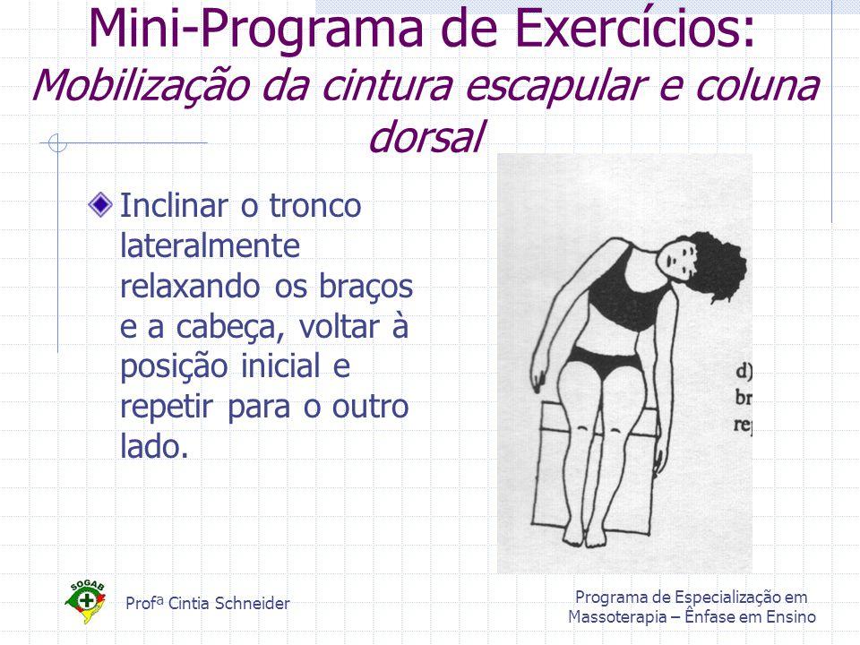 Programa de Especialização em Massoterapia – Ênfase em Ensino