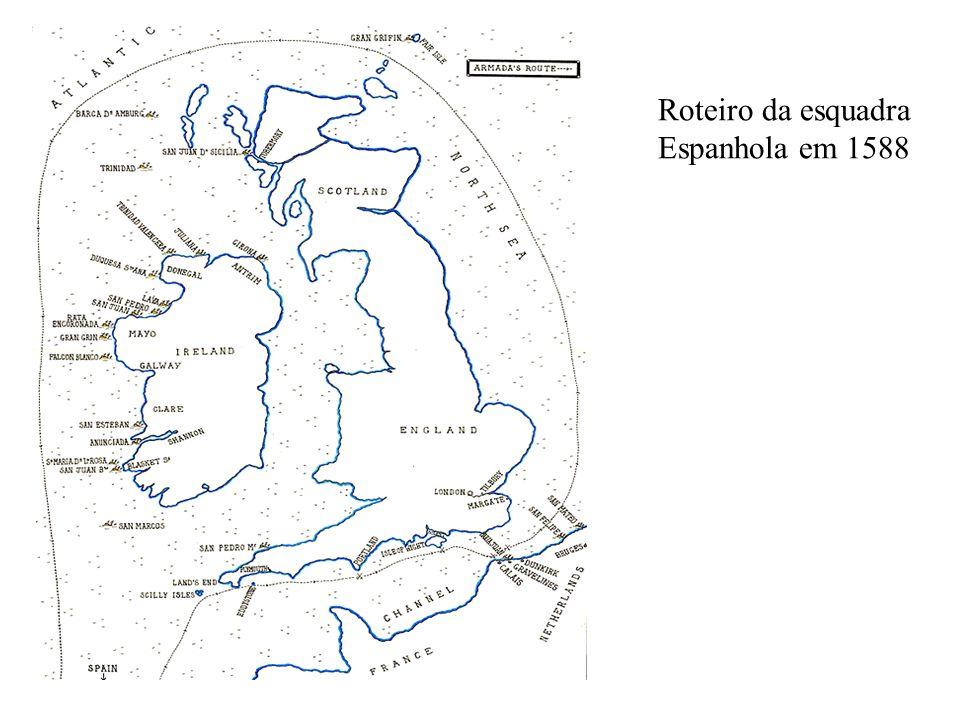 Roteiro da esquadra Espanhola em 1588
