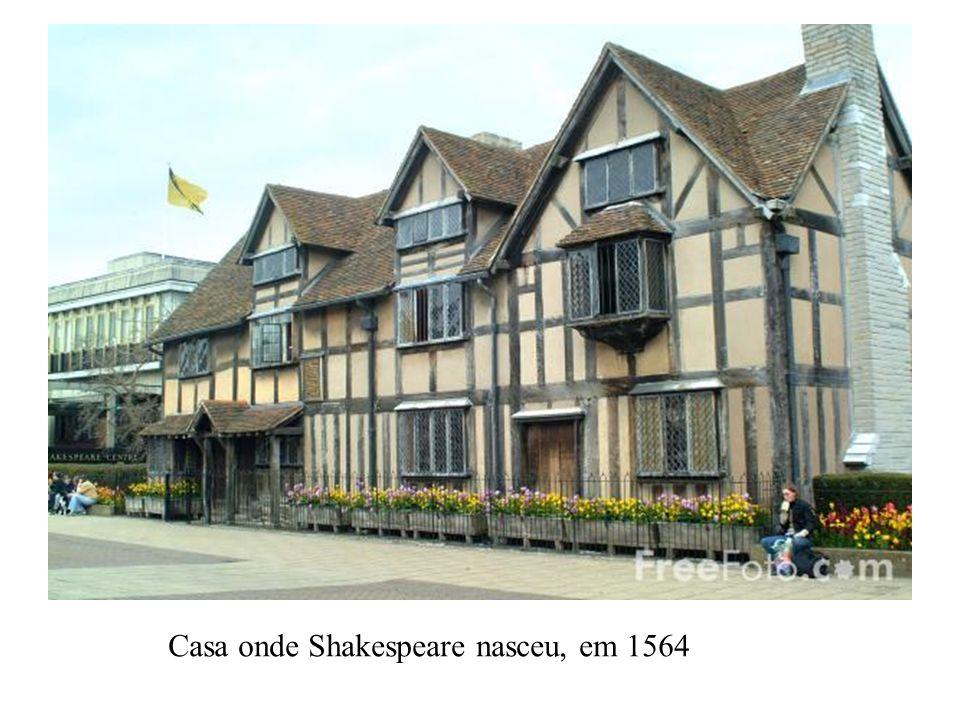 Casa onde Shakespeare nasceu, em 1564