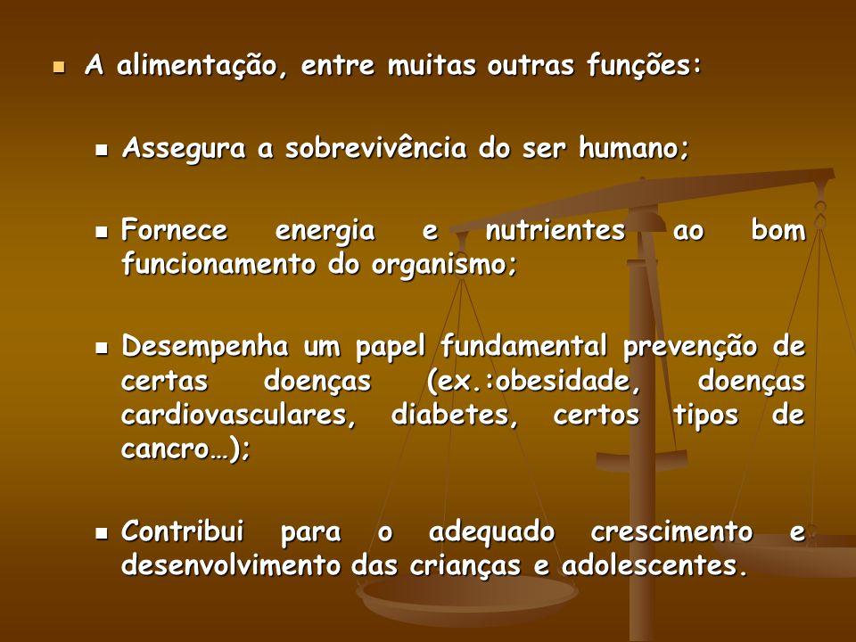 A alimentação, entre muitas outras funções: