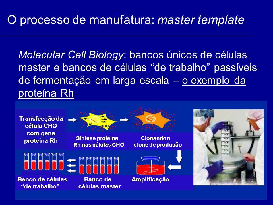 Transfecção da célula CHO com gene proteína Rh