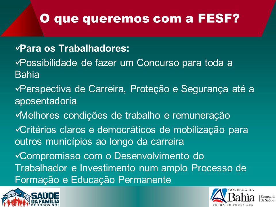 O que queremos com a FESF
