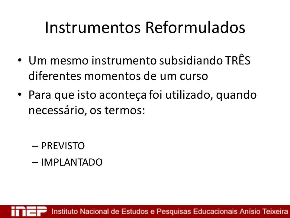 Instrumentos Reformulados