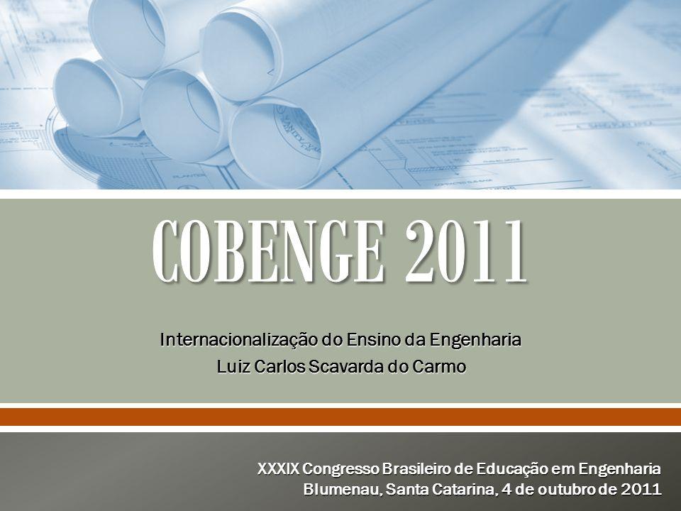 COBENGE 2011 Internacionalização do Ensino da Engenharia