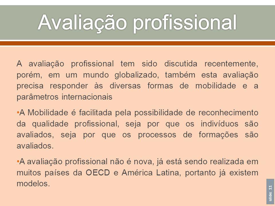 Avaliação profissional