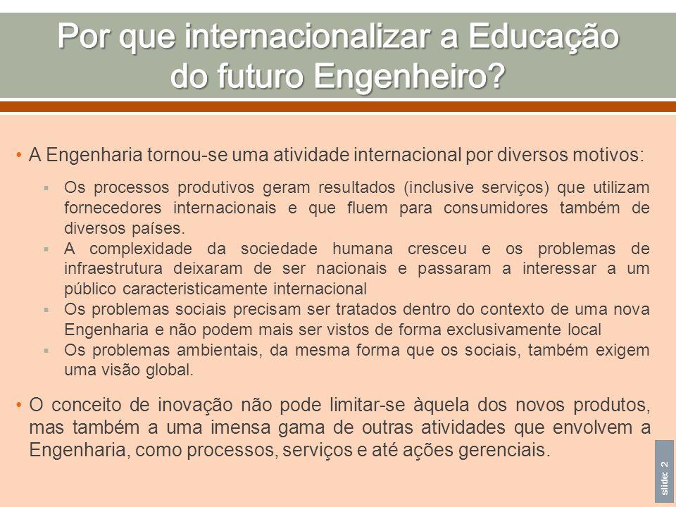 Por que internacionalizar a Educação do futuro Engenheiro