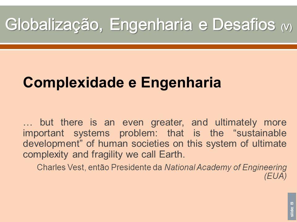 Globalização, Engenharia e Desafios (V)