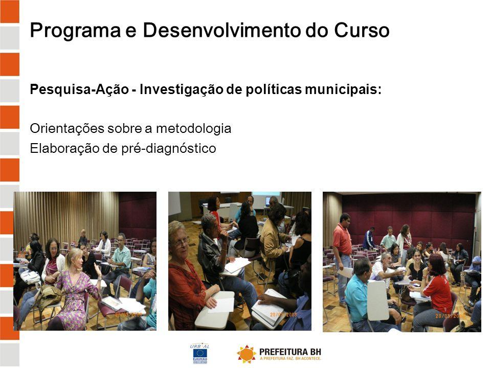Programa e Desenvolvimento do Curso