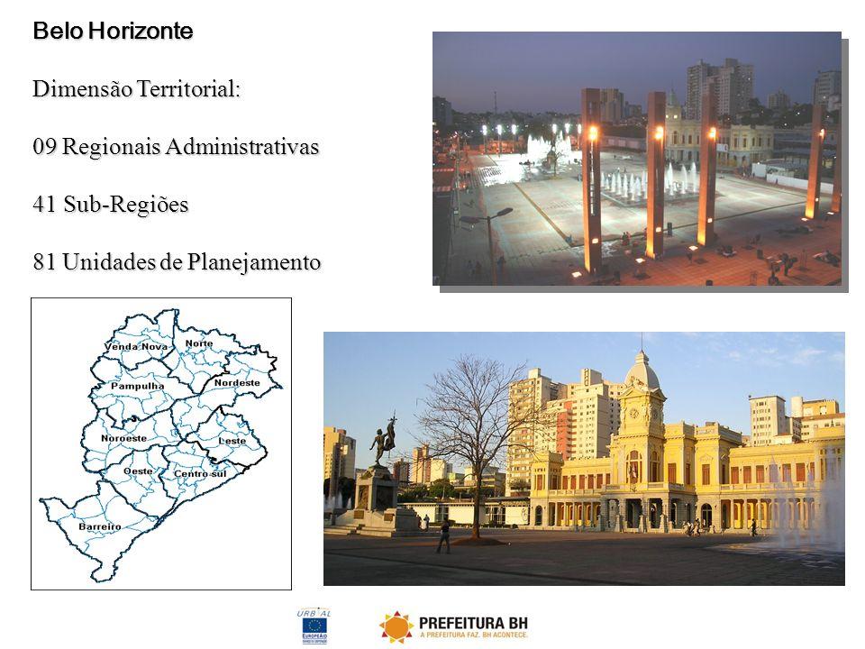 Belo Horizonte Dimensão Territorial: 09 Regionais Administrativas.
