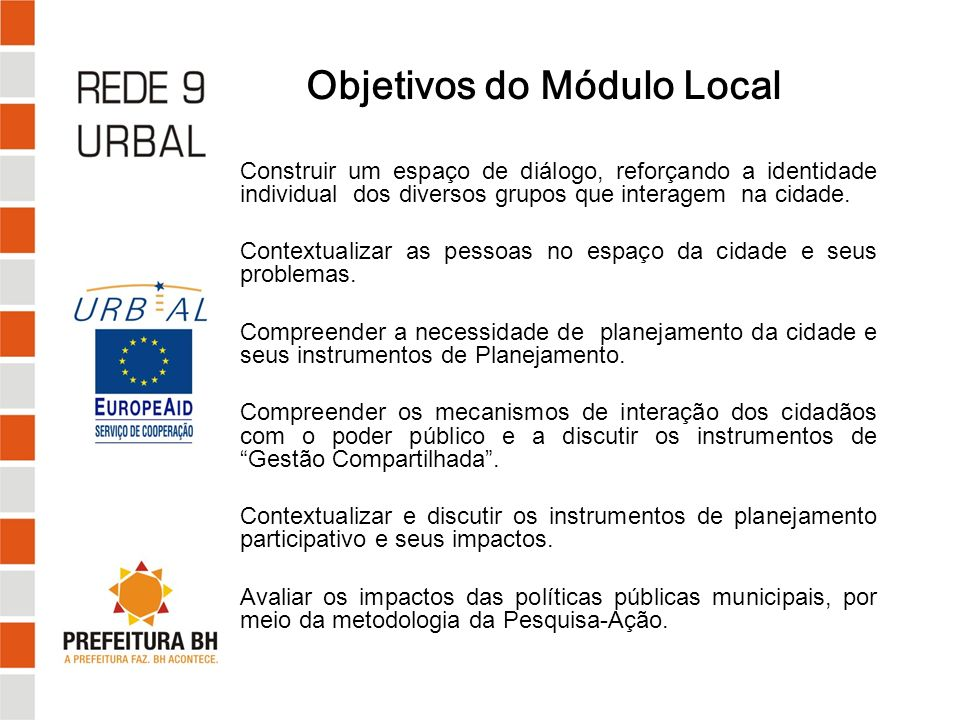Objetivos do Módulo Local