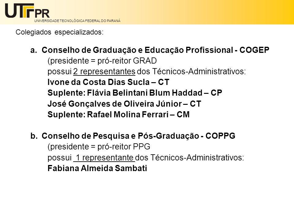 Conselho de Graduação e Educação Profissional - COGEP
