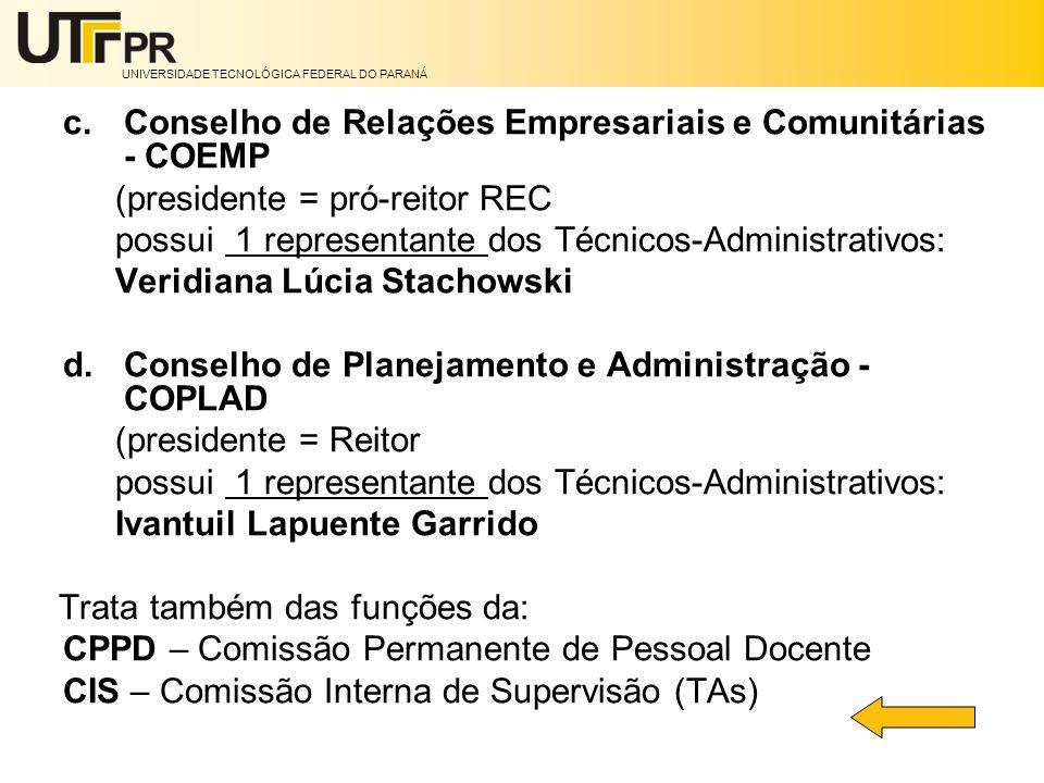 Conselho de Relações Empresariais e Comunitárias - COEMP
