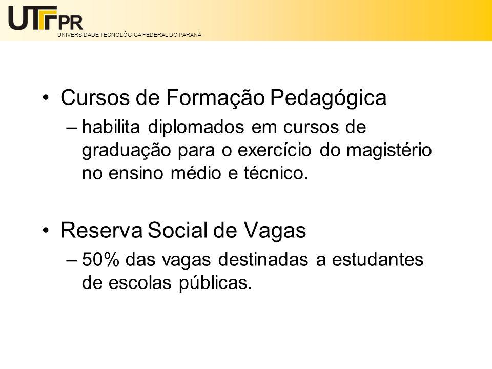Cursos de Formação Pedagógica