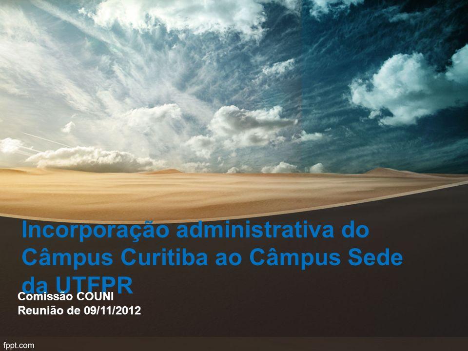 Incorporação administrativa do Câmpus Curitiba ao Câmpus Sede da UTFPR