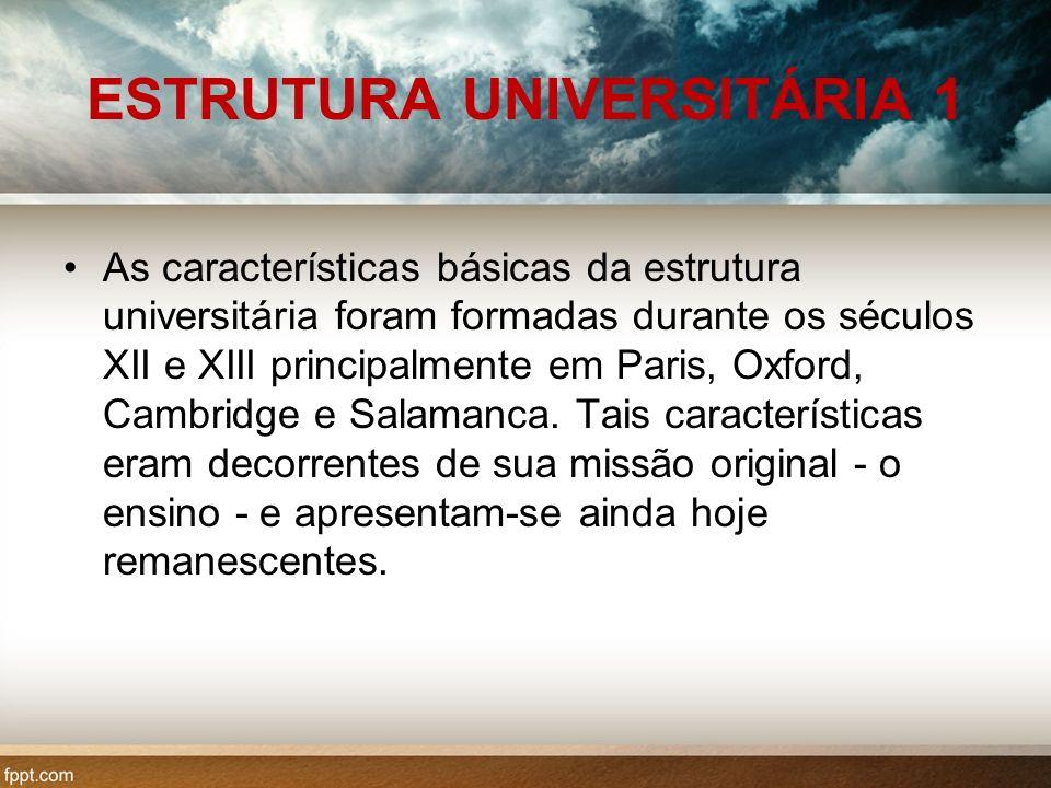 ESTRUTURA UNIVERSITÁRIA 1